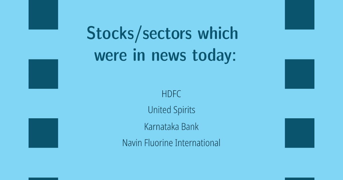 Stocks Sectors Which Were in News Today